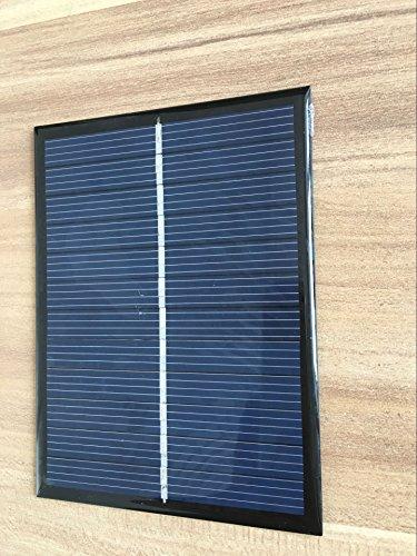 Shsyue Panneau solaire Polycristallin pour Eclairage Téléphone Portable Jouet 6V/1,1W-1,25W/200mA 112×84mm