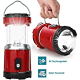 FINIVIVA LED Rechargeable Solar Emergency Light Lantern with USB Mobile Charging,Torch Point, 2 Power Source Solar and Lithium Battery
