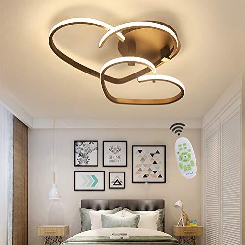 Eisen Bad Lampe (Deckenleuchte Dimmbar LED Wohnzimmerlampe mit Fernbedienung Modern Decke Lampen, 32W Deckenlampe Acryl Lampenschirm Design für Schlafzimmerlampe Esszimmerlampe Küchelampe Kinderzimmer Leuchte Deko)