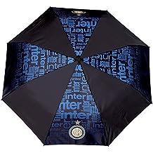 Paraguas plegable hombre aut. color uniforme+marca FC Inter