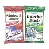 Car Pride interior dash wipes and window & mirror wipes -...