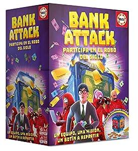 Educa Borrás-Bank Attack Juego de Mesa, Color versión española 18349