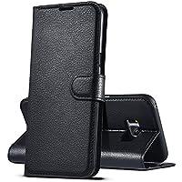 """Funda Samsung Galaxy S8 Plus, HWeggo Carcasa Libro Protective Billetera [Slim Flip] Fundas Case con Stand Función para Samsung Galaxy S8 Plus 6.2"""", Negro"""