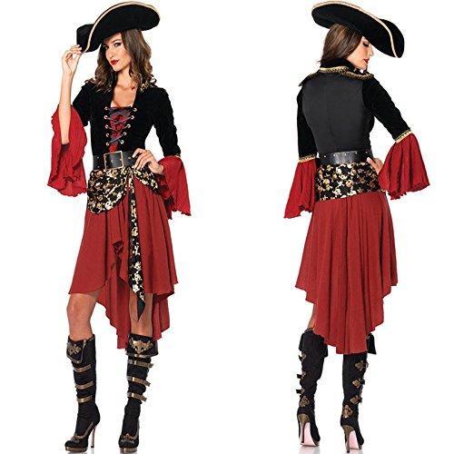 aribik Königin Kleid Halloween-Kostüme extravagante Kostüme cosplay Piraten Ausrüstung ()