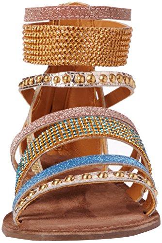 Lotus Wren, Sandales Bride cheville femme Gold (gold Multi)