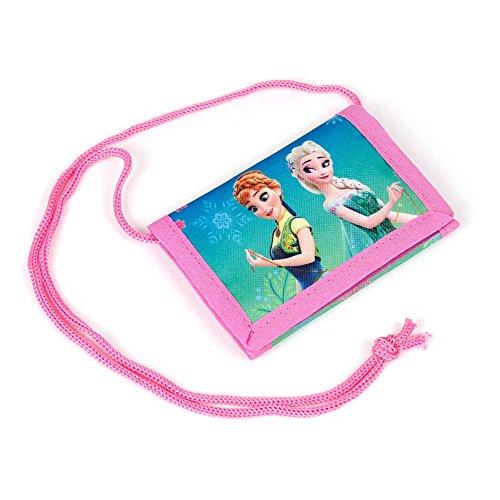 Kinder Portemonnaie 12x8x1,5 cm - Disney Frozen Collection - PINK/TÜRKIS