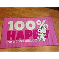 Alfombra Snoopy 100x 170Rosa Penauts Charlie Brown