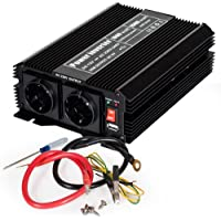 TecTake Power Inverter Modificata onda 12 V / 220 V 1000W 2000W Convertitore di corrente per auto camper Caricatore USB