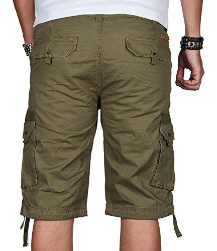 ... Stylische Herren Cargo Short Sommer Bermuda kurze Hose Army Shorts B493  Oliv