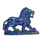 Geschnitzte Lapislazuli Lion Statue Ungefähr 2758,50 Ct Showpiece für Büro, Studie Tisch, Fengshui Bedeutung
