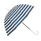 Unbekannt &Taschenschirm Streifen-Regenschirm-lichtdurchlässiger Regenschirm-koreanischer kleiner frischer starker Regenschirm (Farbe : A)