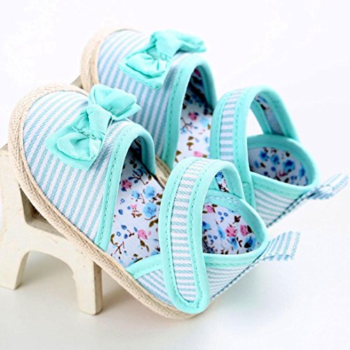 Baby schuhe Jamicy® Baby Säuglings mädchen Krippe Kleinkind Neugeborene Prewalker Schuhe (6~12 Monat, Grün) Grün