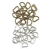 D DOLITY 200 Stücke Legierung D Ring Dee Ringe Für Gurtband Umreifungsbeutel Zubehör Lederhandwerk DIY Handwerk 10mm Silber Bronze