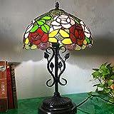 OOFAY LIGHT® Vintage Tischleuchte, Harz Base und Rostfreier Glas Schreibtisch Lampe Eye-Protection Schlafzimmer Lampe Dekoration Lampe, 12 Zoll