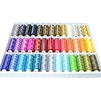 Una caja de 39 colores hilos rollos de 250 metros de colores Colores 100% Polyesterr, punto de cruz hilos para tejer by DELIAWINTERFEL