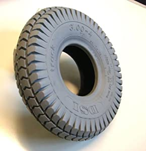 260x85 3.00-4 Grey Block Mobility Scooter Tyre 300x4