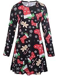 Vestido De Navidad para Padres E Hijos Vestido Familiar Calcetines De Navidad Vestido De Manga Larga