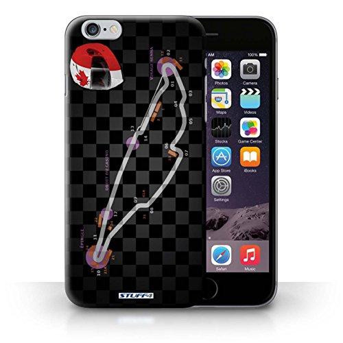 Kobalt® Imprimé Etui / Coque pour iPhone 6+/Plus 5.5 / USA/Austin conception / Série 2014 F1 Piste Canada/Montréal