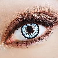 Lenti a contatto colorate Blue Magic by aricona – Jahreslinsen für helle Augenfarben, mit Stärke -1,5 Dioptrien, Farblinsen als Modeaccessoire für den täglichen Gebrauch