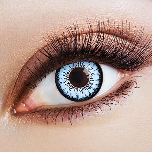 aricona Farblinsen farbige Kontaktlinsen mit Stärke blaue 12 Monatslinsen | natürliche Jahreslinsen für Big Eyes | bunte Contact Lenses blau farbig | - 3,5 Dioptrien