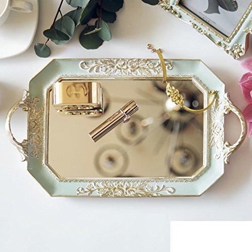 Oude Farbe Kasten Spiegel Schlafzimmer Dekoration Dekoration Klassischen europäischen Schreibtisch Kollektion nach Hause Schmuck Aufbewahrungsbox-A (Schwarz-schlafzimmer-kollektion)