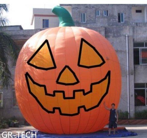 (gr-tech Instrument® 26ft aufblasbar Kürbis Halloween Jack O Laterne Urlaub mit Gebläse 220V oder 110V)
