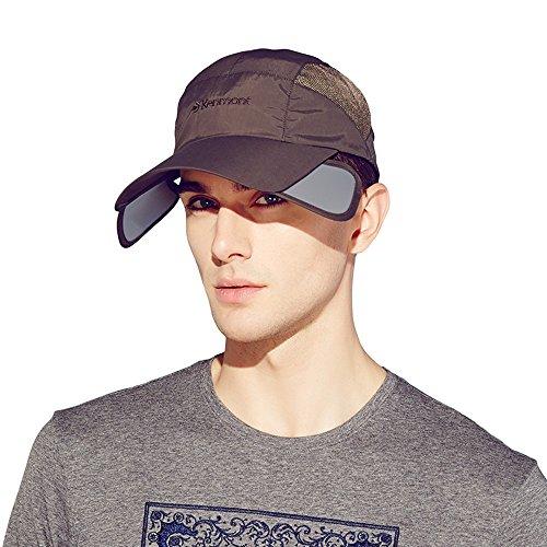 Kenmont Casquette de Baseball en Plein Air Anti-UV Visière Chapeau de Soleil est l'été des Hommes (Gris Marron)