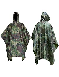 ElifeAcc Multifunctional Rain Cape Hooded Poncho - Waterproof Raincoat,Tent Ground Sheet Mat,Sunshade Tarp,Perfect for Outdoor Activities