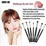 Black 7pcs/set Professional Makeup Brushes Horse Hair Eye Shadow Eyebrow Brush