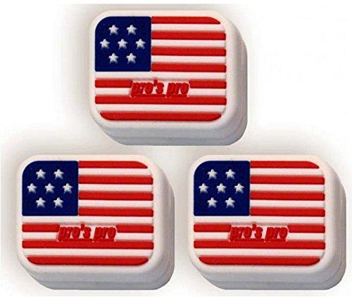 Tennis drapeau national USA Antivibrateur square