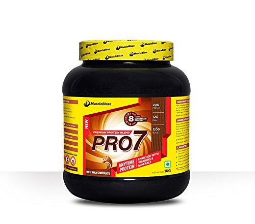MuscleBlaze PRO7 Protein Blend, 1 kg Rich Milk Chocolate