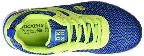 Dockers by Gerli 38sb622-703609, Scarpe da Ginnastica Basse Unisex – Bambini Blu (Blau/gelb 609)