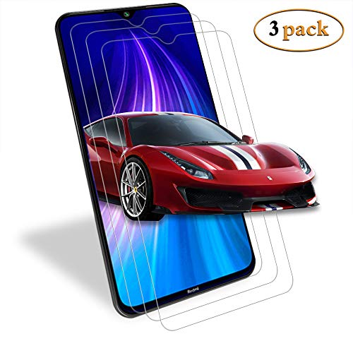 ANEWSIR for Xiaomi Redmi note 8 Screen Protector,【3 pack】 Screen Protector Tempered Glass for Redmi note 8 [High Definition] [Bubble Free] [Scratch-Resistant]