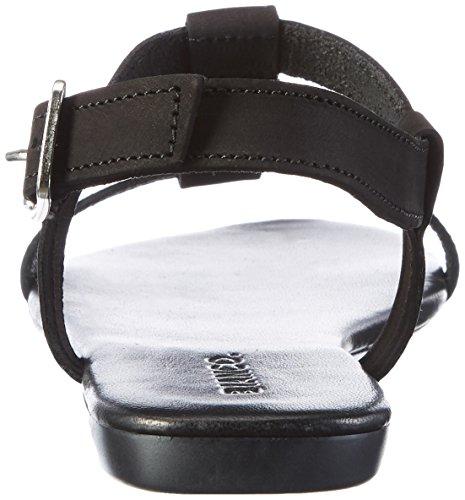 Bianco Damen T-Bar Sandal 21-49247 Schwarz (Black)