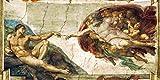 Kunstdruck auf Leinwand. Die Erschaffung Adams. Bild von Michelangelo Buonarrotti