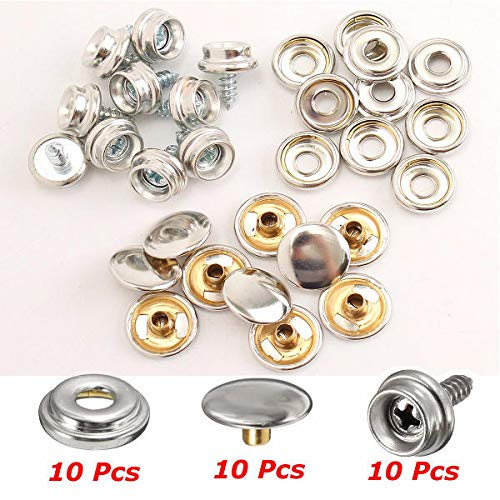 75pcs 25 Sets 15mm Snap Fastener Button Screw Studs Kit For Boat Cover Tent Kit Traveling Boat Parts & Accessories Atv,rv,boat & Other Vehicle