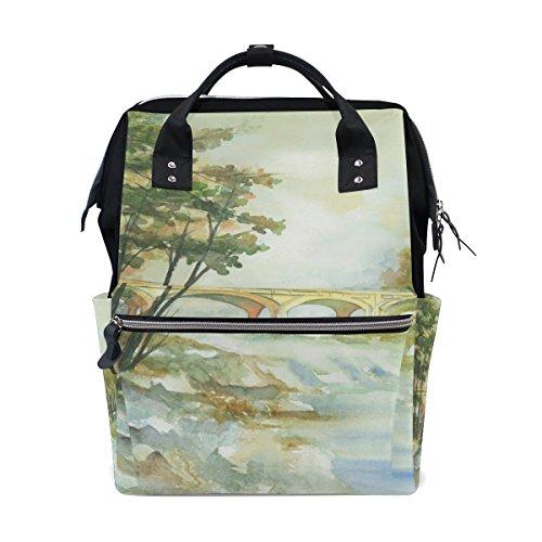 �cke Windel-Tasche Rucksack, große Kapazitäts-Muti-Funktion Spielraum-Rucksack Groß mehrfarbig ()