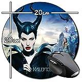 Malefica Maleficent Angelina Jolie A Tapis De Souris Ronde Round Mousepad PC