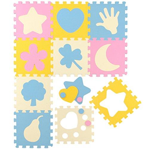 LittleTom Puzzlematte gemischte Motive, Pastellfarben