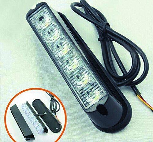 LED Voiture Car Avertissement 6modes flash 12V 6W de danger de sécurité d'urgence de la torche électrique Grille Du précipité de la plate-forme Strobe Light Lamp Bar KM202–6A personalizzare