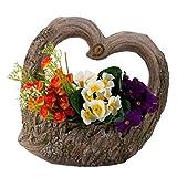 Trauer-Shop Grab Dekoration Herz zum Stellen, Vertiefung für Blumen, Deko Schmuck. Höhe 31 cm - 2
