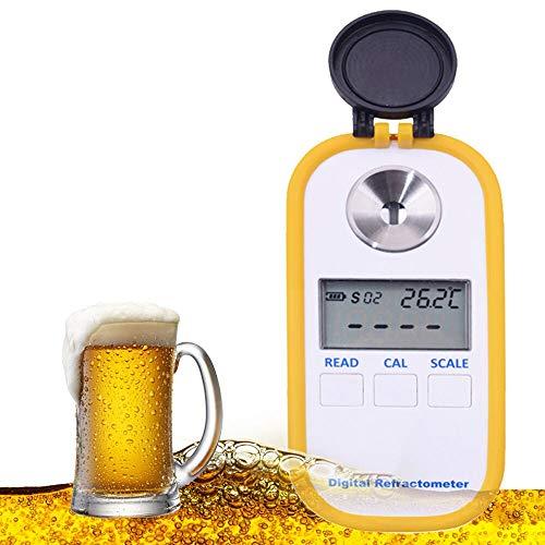 Huanyu Bierwurzel-Refraktometer 0 bis 50{b1d4e79890045b56d3da6afe5ef98112f1ea9b7f871911eb0a1f189ee7bc6505} Brixtester Zuckergehalt Messung mit 1.000 bis 1.130 SG für Bierbrauen DR-402