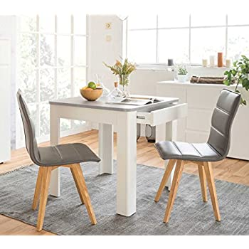 Tisch, Esszimmertisch, Esstisch, Küchentisch, quadratisch, weiss ...