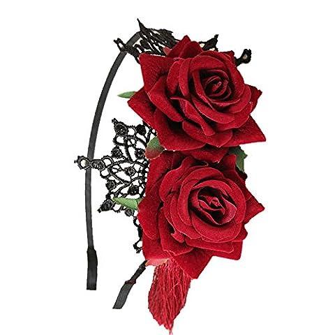 Populaire Halloween - Européenne Rétro Halloween Populaire Fleur Rouge Pompon