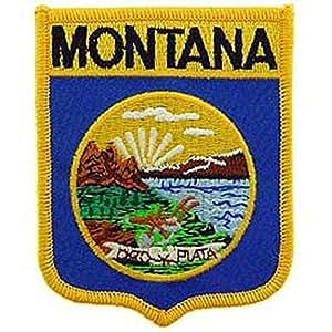FindingKing Staatsflagge von Montana Shield Patch/20.32 cm X 1 3/5.08 cm