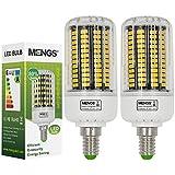 MENGS® Pack de 2 E14 Lámpara LED 18W AC 220-240V blanca cálida 3000 K 136x5733 SMD con carcasa de PC