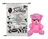 Saugat Traders Birthday Gift Combo of Teddy Bear with Birthday Scroll Card