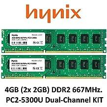 Hynix 4GB Dual Channel kit (2x 2GB) DDR2667MHz PC2–5300(240pin) PC Memoria RAM Memory 3rd DIMM