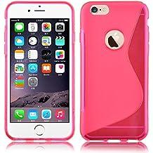 JAMMYLIZARD   Funda De Silicona Gel S-Line Para iPhone 6 Plus / 6s Plus 5.5 Pulgadas Back Cover, FUCSIA