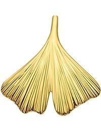 Gold 14 k ( 585 ) Motiv - Anhänger - Ginkoblatt - B. 19,6 mm - H. 19,9 mm